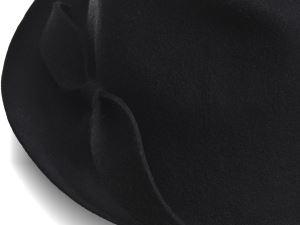hat designer, justine hats, black hat