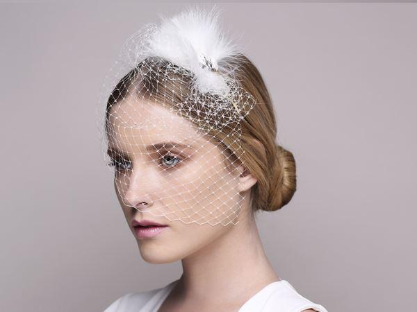 wedding head fascinator, bridal fascinator