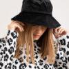 black velvet bucket hat