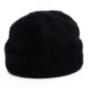 black angora beanie hat