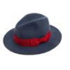blue felt fedora hat