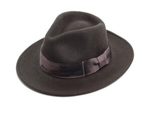 grey felt fedora hat