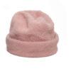 pink beanie angora hat