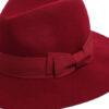 womens red felt fedora hat