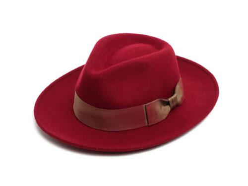 red felt fedora