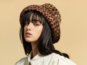 Speckled fur felt stylish hat