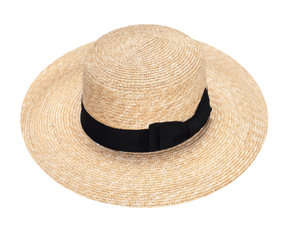 summer straw boater hat